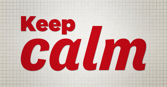 Calm is Contagious! And the story of a friend's promotion! image